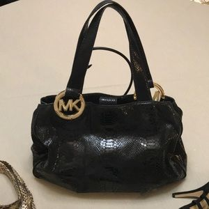 Michael Kors Snakeskin Embossed Shiny purse